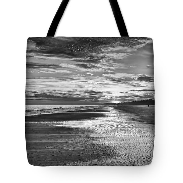 Black And White Beach Tote Bag by Phill Doherty
