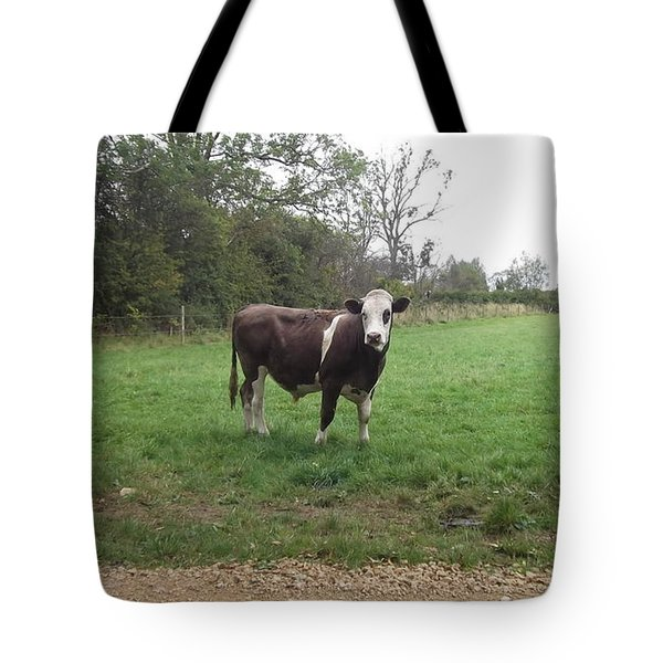 Black And White Bull Tote Bag