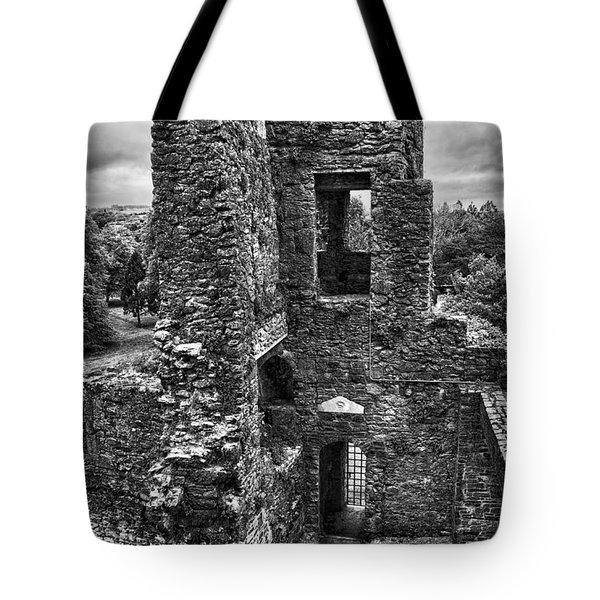 Black And White Castle Tote Bag