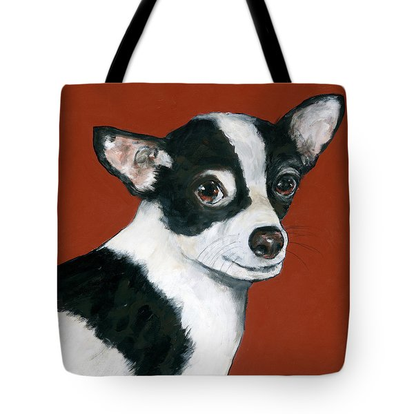 Black And White Chihuahua Tote Bag