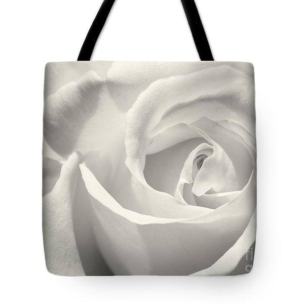 Black And White Curves Tote Bag by Sabrina L Ryan