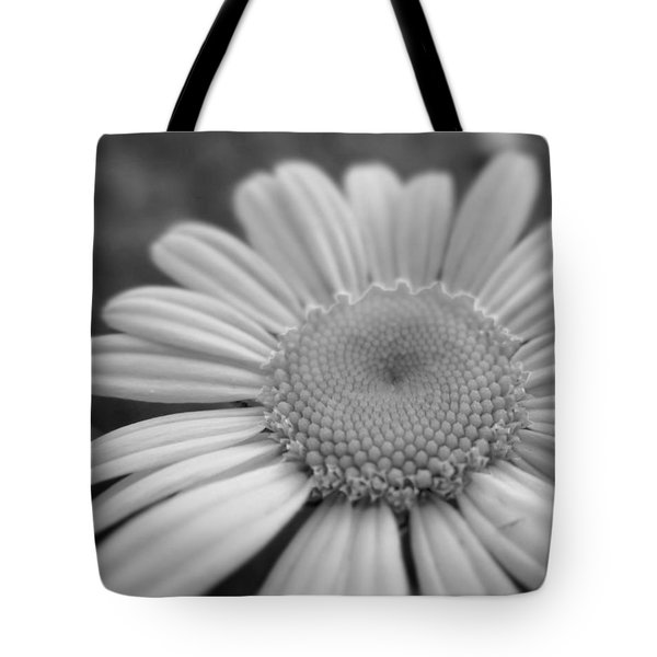 Black And White Daisy Tote Bag