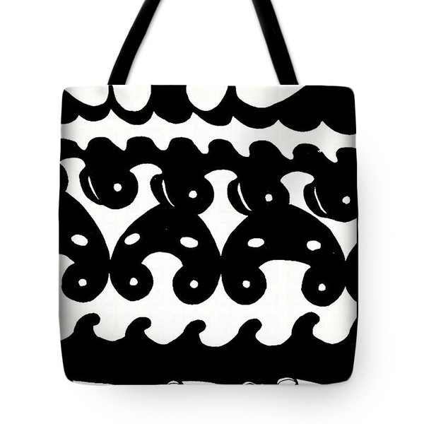 Black And White Design - Original Gouache Painting Tote Bag