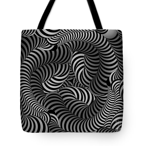 Black And White Illusion Tote Bag