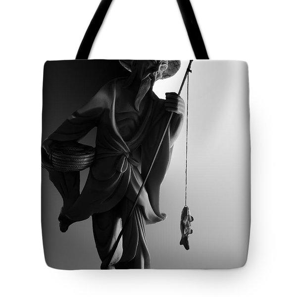 Black And White Ivory Fisherman Tote Bag by Sean Kirkpatrick