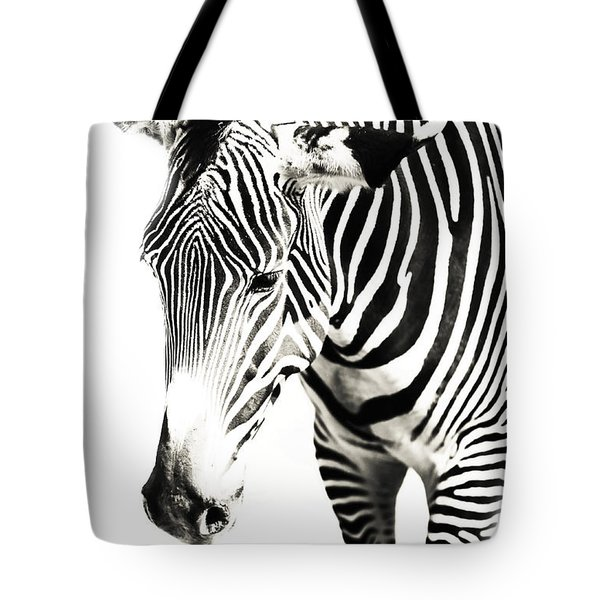 Black And White Tote Bag by Jenny Rainbow