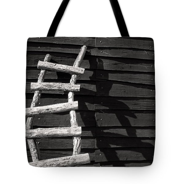 Black And White Ladder Tote Bag