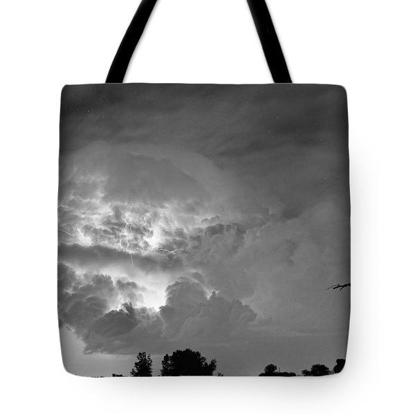 Black And White Light Show Tote Bag by James BO  Insogna