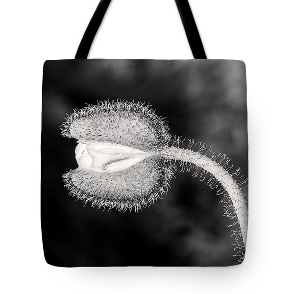 Black And White Poppy Tote Bag