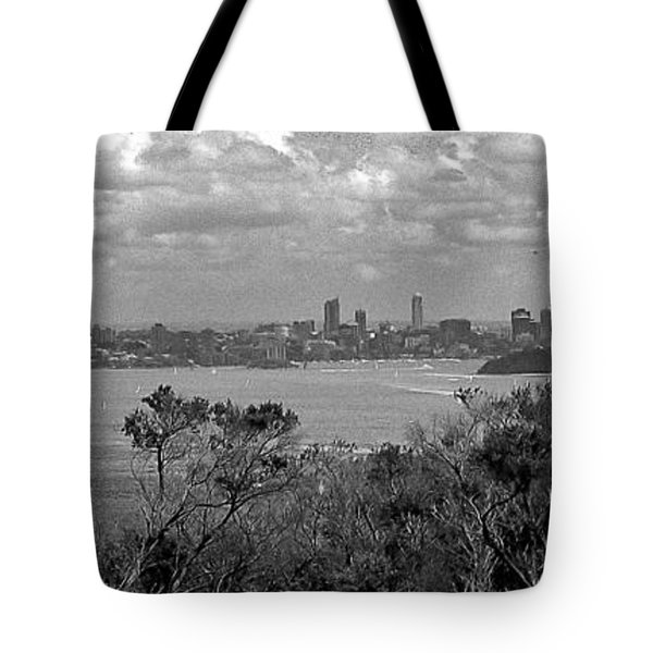 Tote Bag featuring the photograph Black And White Sydney by Miroslava Jurcik