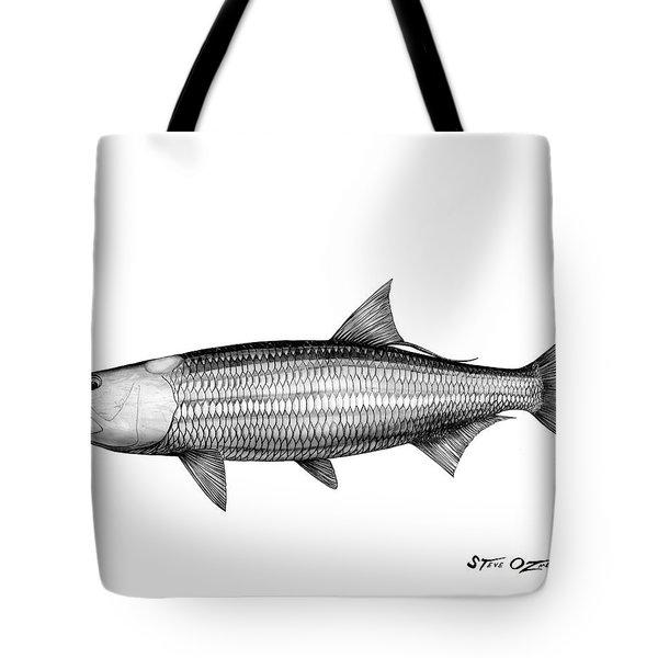 Black And White Tarpon Tote Bag