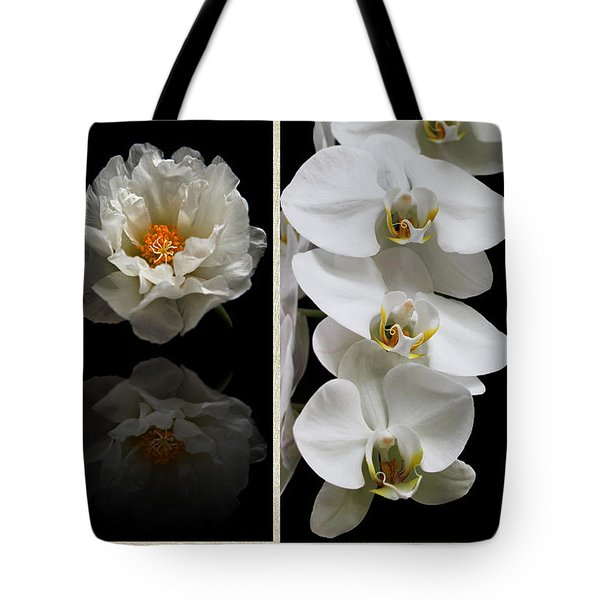 Black And White Triptych Tote Bag by Judy Vincent