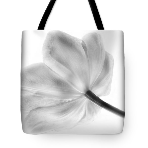 Black And White Tulip Tote Bag