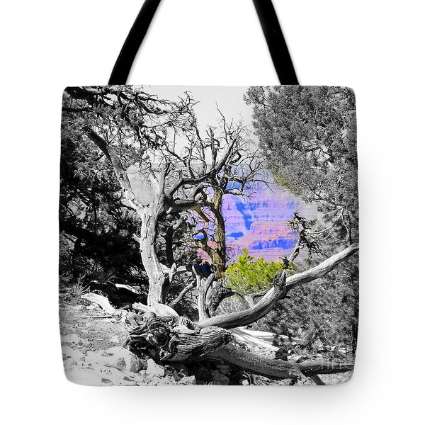 Black And White With Color Tote Bag