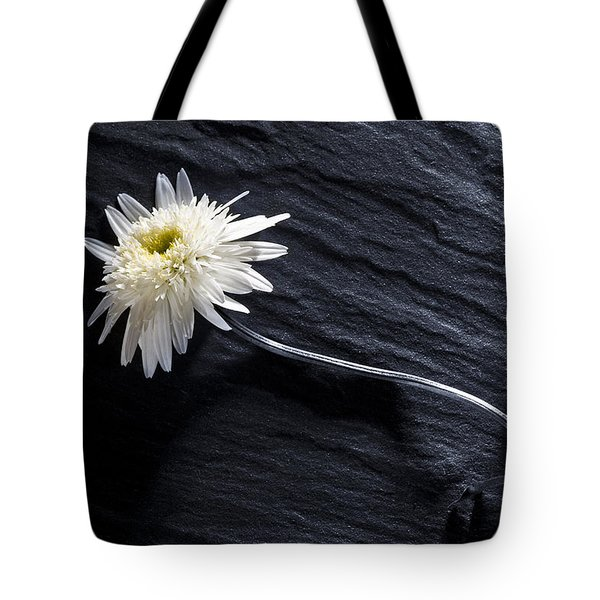 Black And White With Yellow Tote Bag by Trevor Chriss