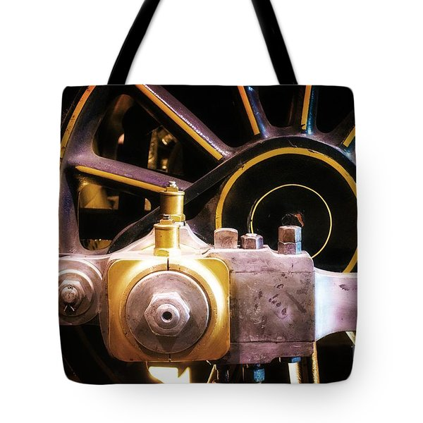 Black And Yellow Loco Wheel Tote Bag by Joseph J Stevens