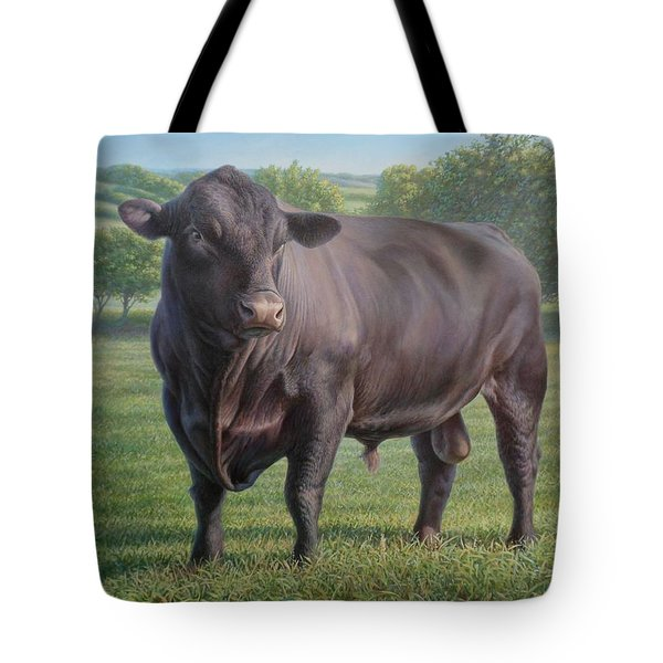 Black Angus Bull 2 Tote Bag