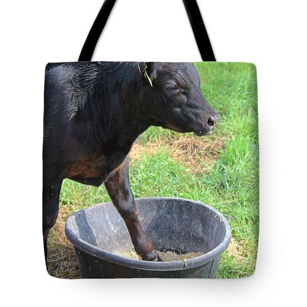 Black Angus Calf Tote Bag