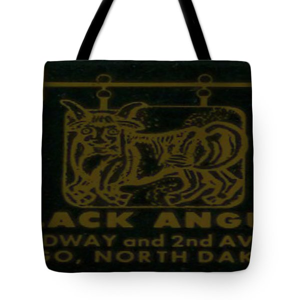 Tote Bag featuring the digital art Black Angus by Cathy Anderson