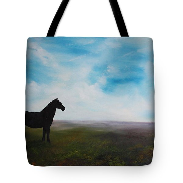 Black As Night In The Light Of Day Tote Bag