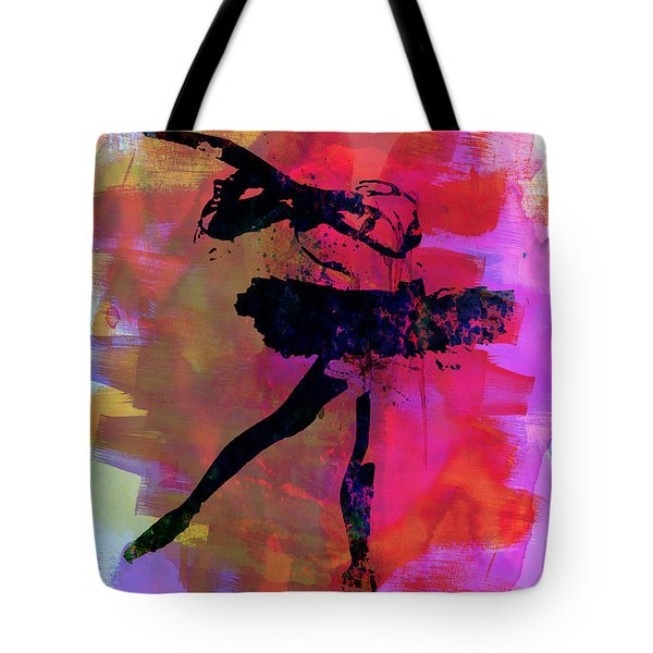Black Ballerina Watercolor Tote Bag