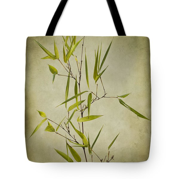 Black Bamboo Stem. Tote Bag by Clare Bambers