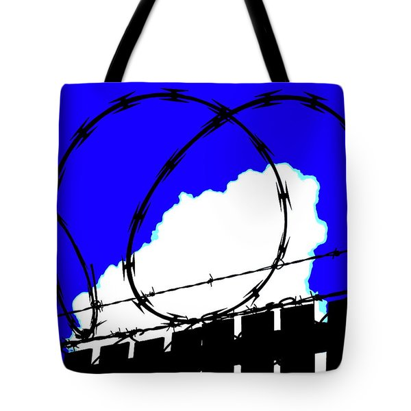 Black Barb Tote Bag