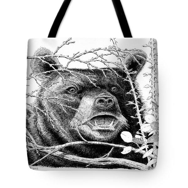 Black Bear Boar Tote Bag