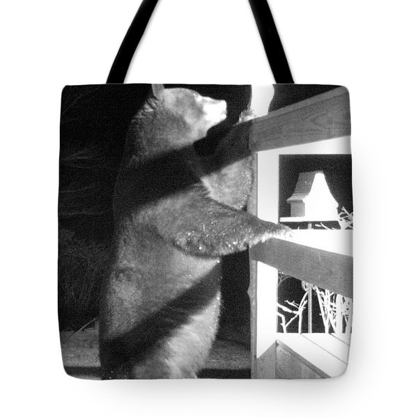 Tote Bag featuring the photograph Black Bear by Mim White