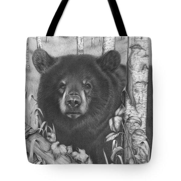 Black Bear On Newsome Creek Tote Bag