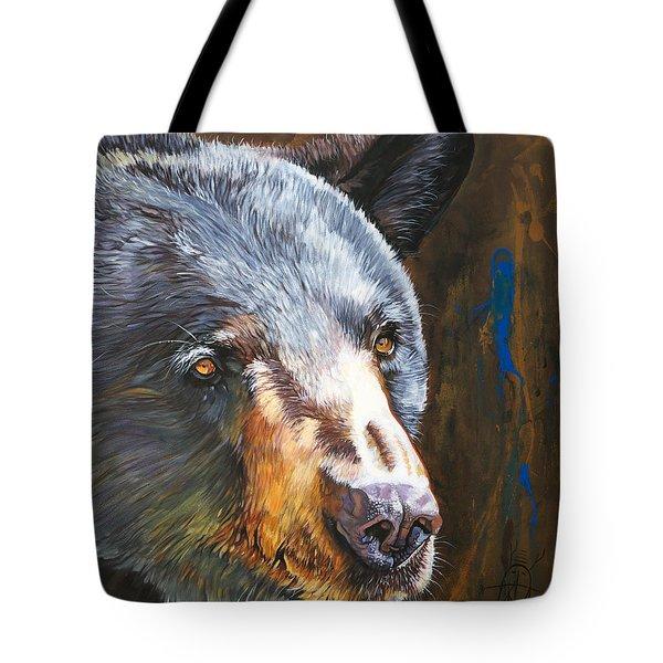 Black Bear The Messenger Tote Bag