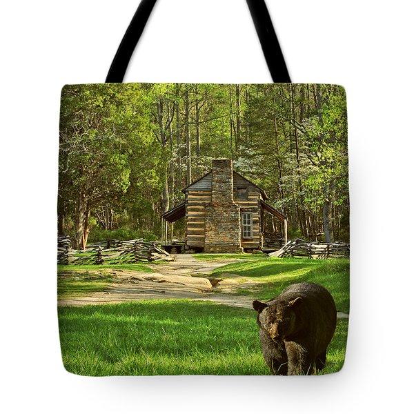 Black Bear Wandering II Tote Bag