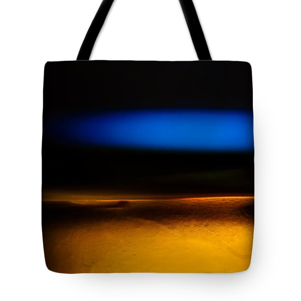 Black Blue Yellow Tote Bag by Bob Orsillo