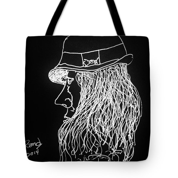 Tote Bag featuring the painting Black Book 06 by Rand Swift