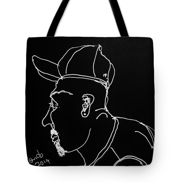 Tote Bag featuring the drawing Black Book 19 by Rand Swift