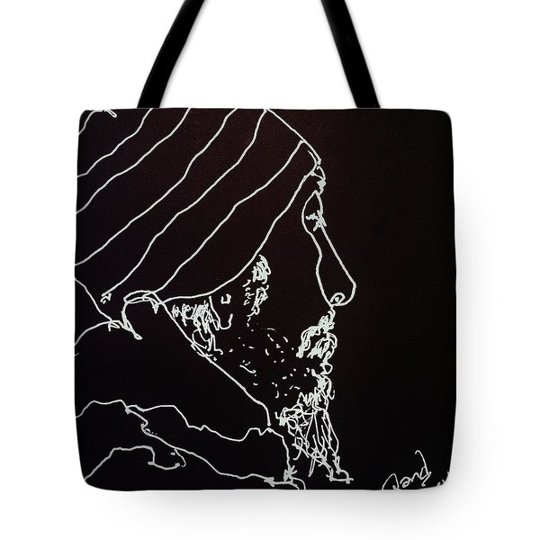Tote Bag featuring the painting Black Book Series 03 by Rand Swift