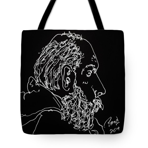 Tote Bag featuring the drawing Black Book Series 05 by Rand Swift
