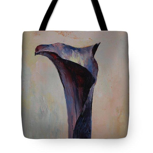 Black Calla Lily Tote Bag