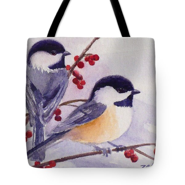 Black-capped Chickadees Tote Bag