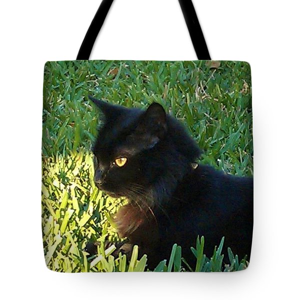 Black Cat Tote Bag by Deborah Lacoste