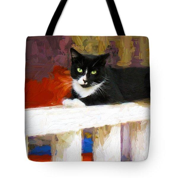 Black Cat In Color Series 2 Tote Bag