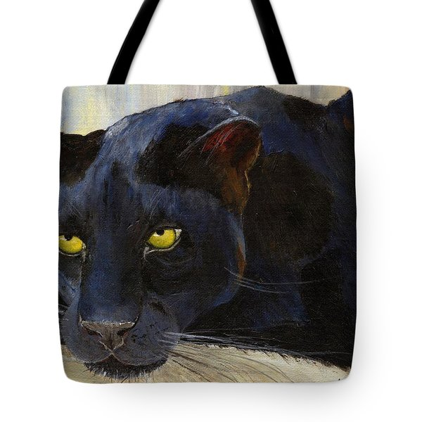 Black Cat Tote Bag by Jamie Frier