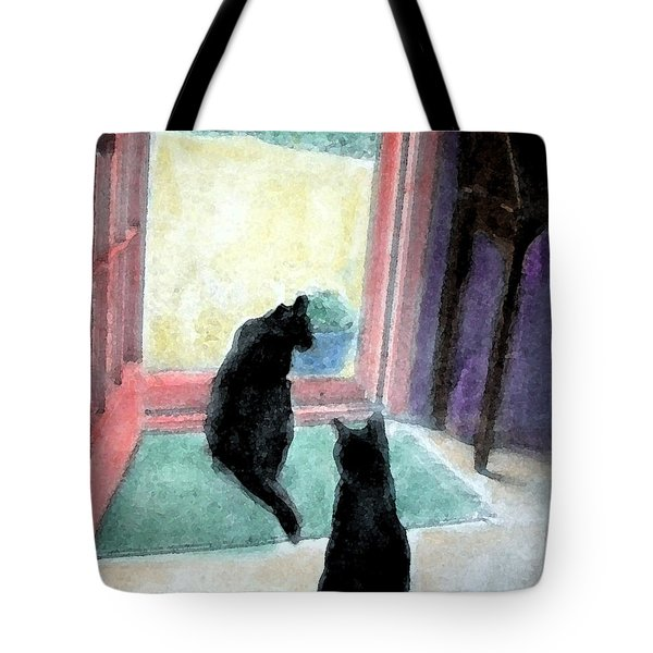 Black Cats Tote Bag by Art by Kar