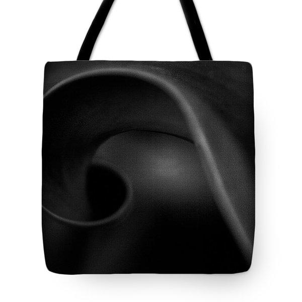 Black Charcoal Tote Bag by Theresa Tahara