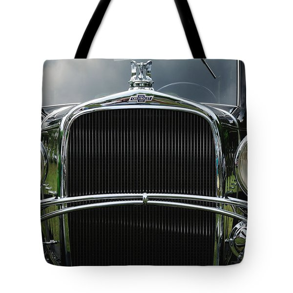 Black Chevrolet Tote Bag