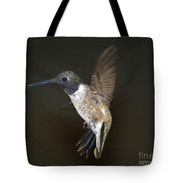 Tote Bag featuring the photograph Black Chinned Hummingbird by Debby Pueschel