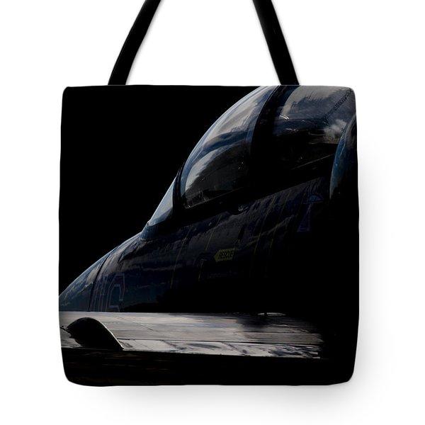 Black Cockpit Tote Bag by Paul Job