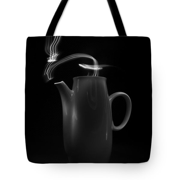 Black Coffee Pot - Light Painting Tote Bag