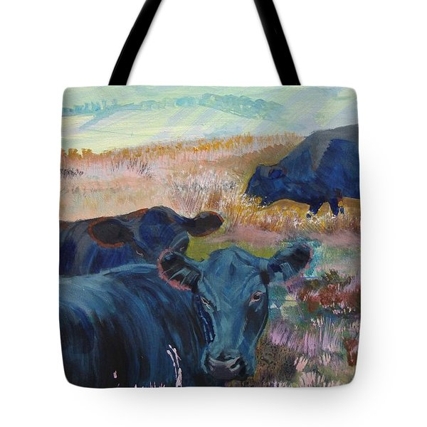 Black Cows On Dartmoor Tote Bag