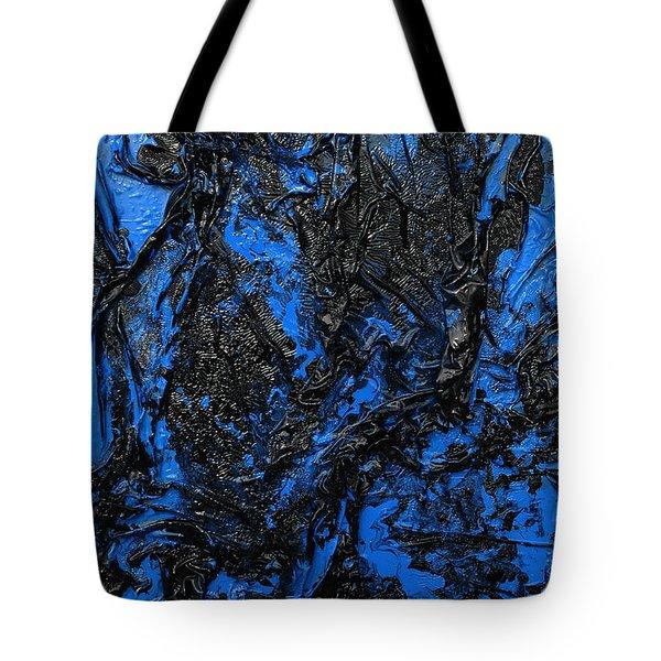 Black Cracks With Blue Tote Bag
